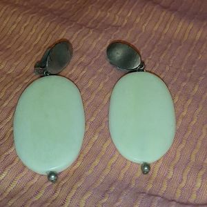 Vintage silver ivory earrings